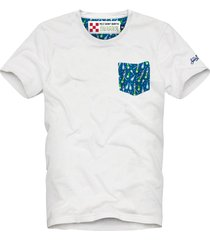 mc2 saint barth micro bottle print pocket man t-shirt