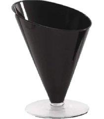 taça centro de mesa diagonal 23x18 cm preto - luvidarte