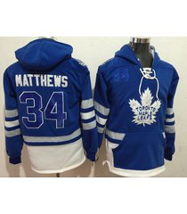 men's maple leafs 34 auston matthews hockey pullover hoodie jersey