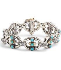 women's konstantino trillion chain link stone bracelet