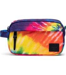 herschel supply co. rainbow chapter carry-on dopp kit, size one size - rainbow tie dye