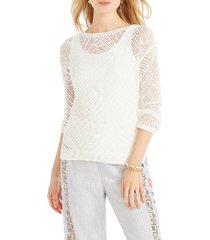 women's nic+zoe dunes sweater, size xx-large - white