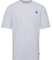 martin recycled cotton boxfit t-shirt t-shirts short-sleeved blå kronstadt