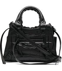 balenciaga neo classic city nano tote bag - black