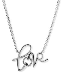 """charriol love cable pendant necklace in sterling silver & stainless steel, 15-3/4 + 2"""" extender"""