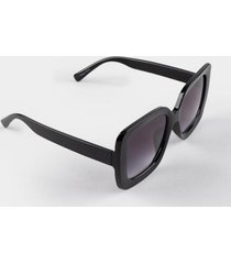 karen oversized square sunglasses - black