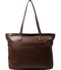 bolsa de couro recuo fashion bag tote castor