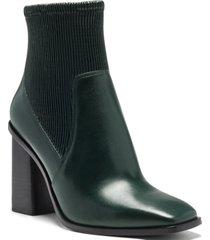 vince camuto women's dasta block-heel booties women's shoes