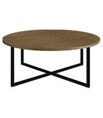 mesa de centro artesano vermont fosco com estrutura preta