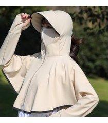 sombrero de sol anti-ultravioleta para mujer, color caqui