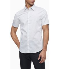 men's short sleeve stretch cotton pattern shirt