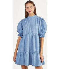 denim babydoll-jurk