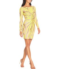 women's dress the population lola long sleeve minidress