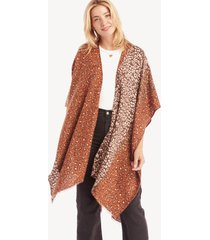 women's colorblock leopard kimono brown combo one size from sole society