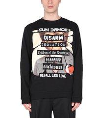 raf simons crew neck sweatshirt