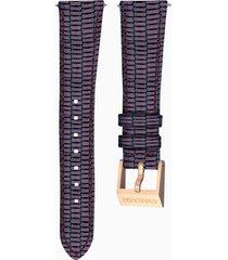 cinturino per orologio 18mm, viola, placcato color oro rosa