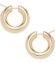 24k goldplated sterling silver huggie hoop earrings