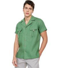camisa lino verde oliva osop mansion