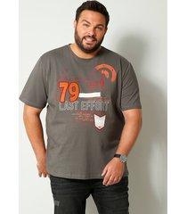 t-shirt men plus grijs::lichtrood