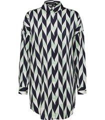 blouse rikkie long shirt multi coloured