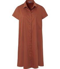 jurk met korte mouwen van day.like bruin