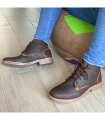 zapato botín casual  - marrón mostaza