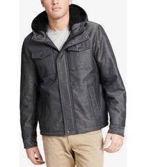 dockers men's two-pocket puffer jacket