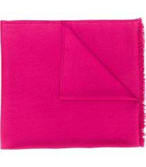 n.peal fringe-trimmed cashmere scarf - pink
