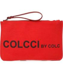 clutch colcci silk vermelha - kanui