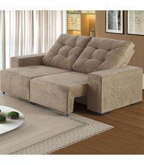 sofá 4 lugares retrátil e reclinável living gold - viero móveis