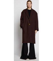 proenza schouler blended wool oversized coat darkbrown 6