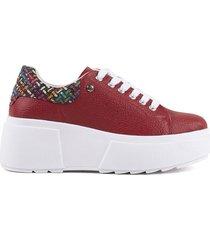 zapatos casuales para mujer cosmos rojo-3