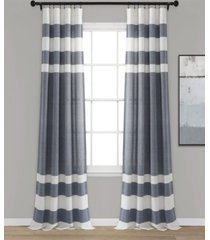 "cape cod stripe 40"" x 95"" curtain set"