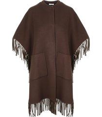 parosh brown cape with fringes