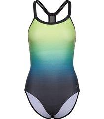 speedo hydrosense printed flowback baddräkt badkläder multi/mönstrad speedo