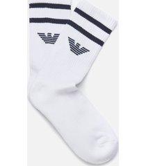 emporio armani men's short socks - white