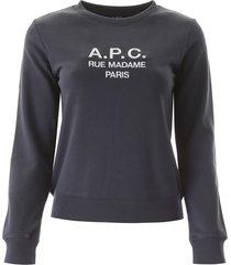 a.p.c. tina sweatshirt with logo embroidery