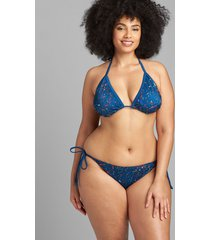 lane bryant women's swim string bikini bottom 20 splatter