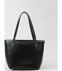 bolsa de ombro feminina shopper grande com alça removível preta