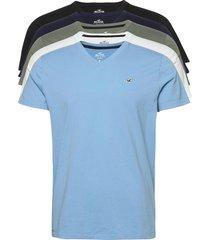 hco. guys knits t-shirts short-sleeved multi/mönstrad hollister