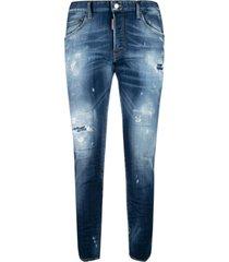 dsquared2 destroyed 5 pockets jeans