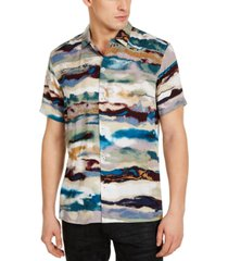 inc men's watercolor striped shirt, created for macy's