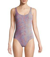 kelly one-piece pinstripe swimsuit