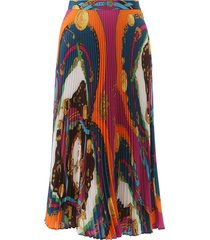versace barocco rodeo print pleated skirt