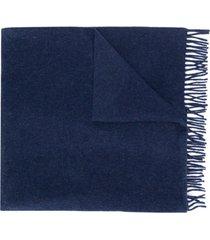 a.p.c. cachecol de tricô - azul