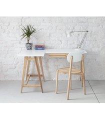 jesionowe biurko narożne luka 135cm x 85cm lewe