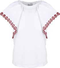 large embroidered sleeves t-shirt valentino