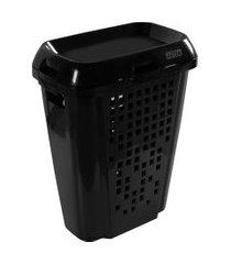 cesto de roupas astra rb7 45 litros com tampa preto
