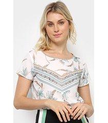 blusa acostamento floral feminina