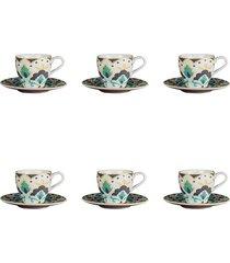 jogo de xícaras para café l'hermitage morlac 6 peças
